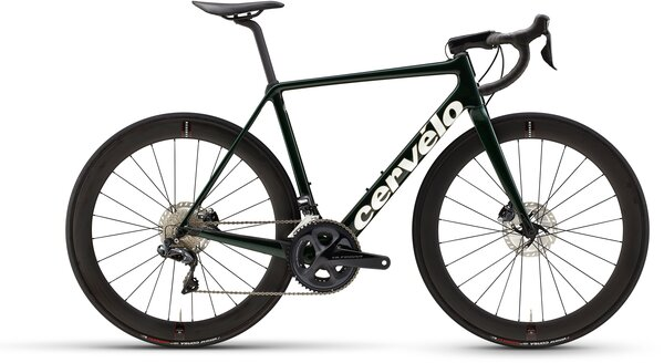Cervelo R5 Disc Ultegra Di2 Color: Green/Gold/White