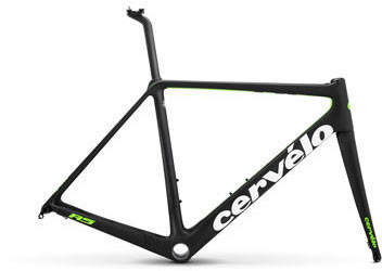 Cervelo R5 Disc Frameset Color: Black/Green