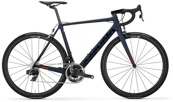 Cervelo R5 Red eTap AXS Rim Color: Navy/Red/Orange