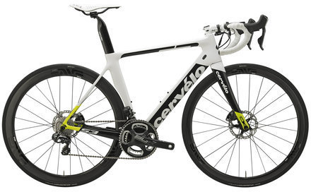 Cervelo S3 Disc Ultegra Di2 6870 Color: White/Fluoro