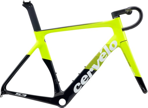 Cervelo S3 Disc Frameset Color: Fluoro/Black/White