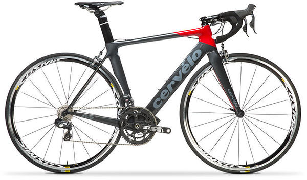 Cervelo S3 (Ultegra Di2) Color: Dark Grey/Red