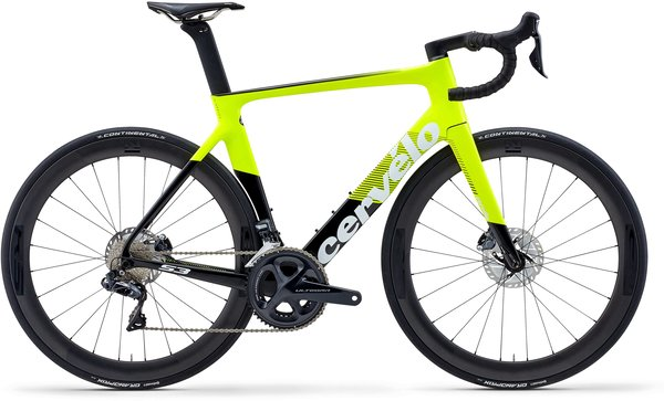 Cervelo S3 Ultegra Di2 Disc Color: Fluoro/Black/White