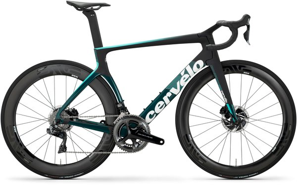 Cervelo S5 Disc Dura-Ace Di2 Color: Black/Dark Teal/Light Teal
