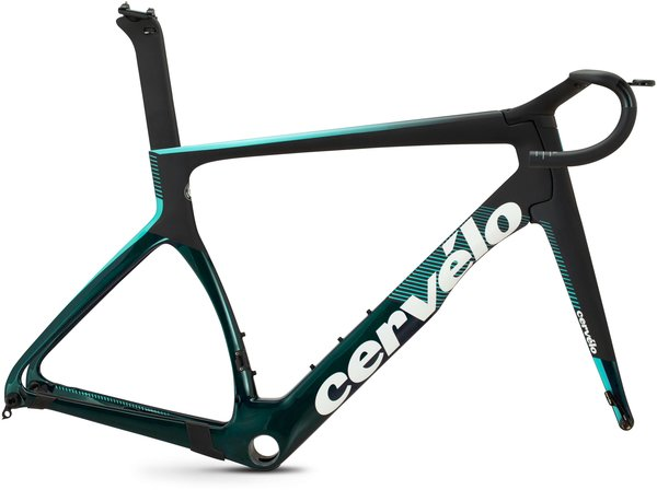 Cervelo S5 Frameset Color: Black/Dark Teal/Light Teal