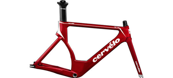 Cervelo T4 Frameset Color: Red/White