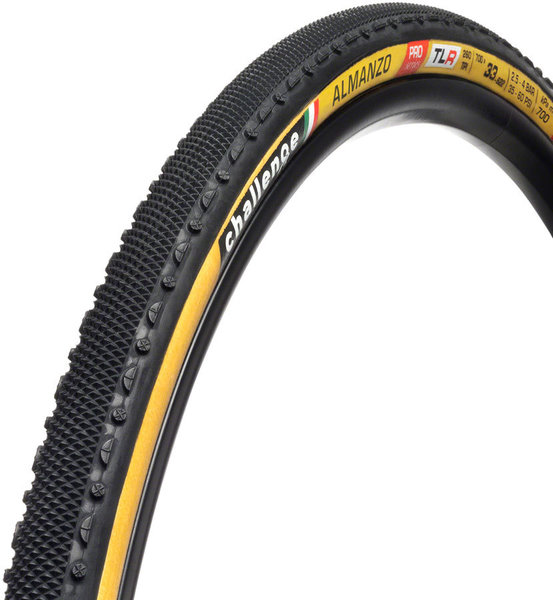 Challenge Tires Almanzo Pro Handmade TLR Clincher Color: Black/Tan