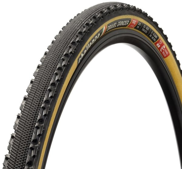 Challenge Tires Gravel Grinder Pro Handmade Clincher 700c Color: Black/Tan