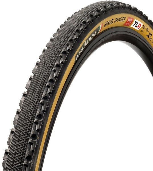 Challenge Tires Gravel Grinder Pro Handmade TLR Clincher Color: Black/Tan