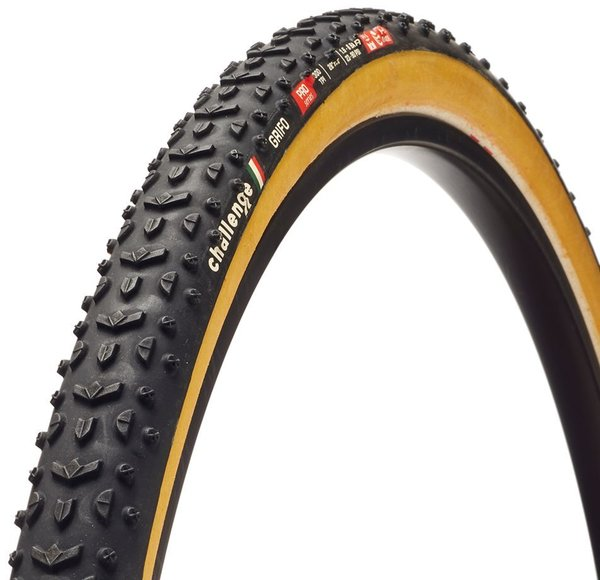 Challenge Tires Grifo Pro Handmade Clincher Color: Black/Tan