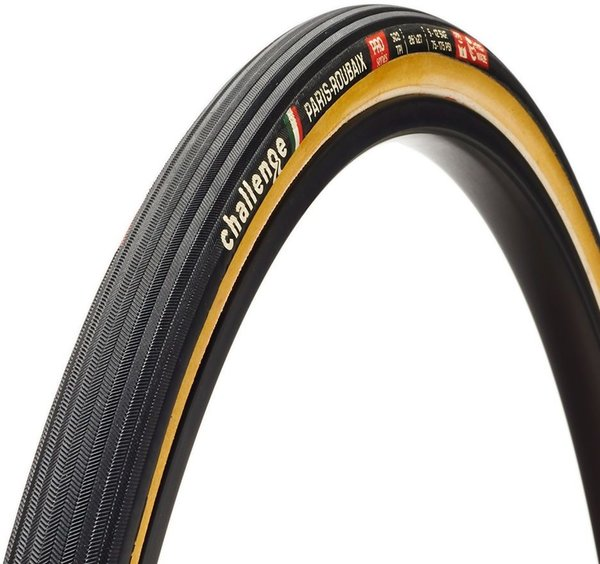 Challenge Tires Paris-Roubaix Pro Handmade Clincher Color: Black/Tan