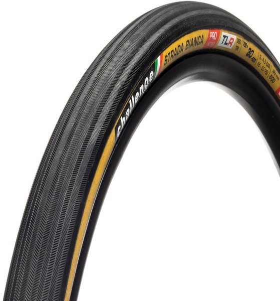 Challenge Tires Strada Bianca Pro Handmade TLR Clincher Color: Black/Tan