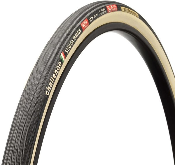 Challenge Tires Strada Bianca Ultra Handmade Tubular Color: Black/Cream