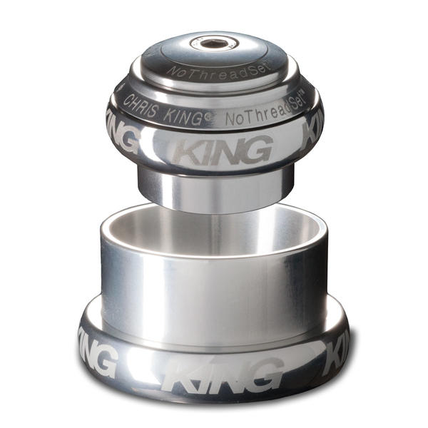 Chris King NoThreadSet Headset Sotto Voce (1-1/8 - 1-1/2-inch) Color: Silver