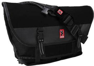 Chrome Citizen Buckle Messenger Bag (Black-Black w/Black Buckle)