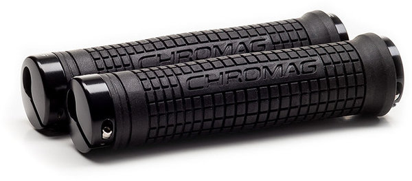 Chromag Squareweave XL Grips Color: Black/Black