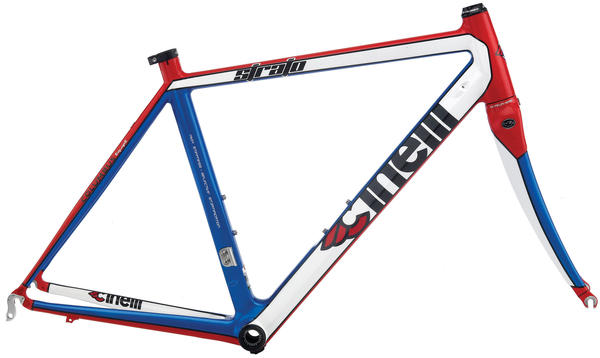 Cinelli Strato Frameset Color: White/Red/Blue
