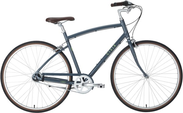 Civia Lowry 8-Speed Internal Step-Over Color: Gray/Lime Green