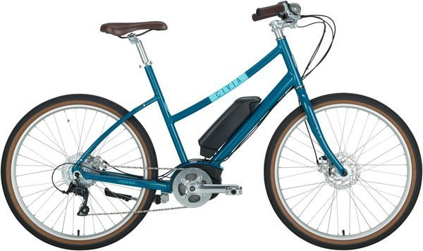 Civia Parkway Step-Thru Electric Bike Color: Dark Teal