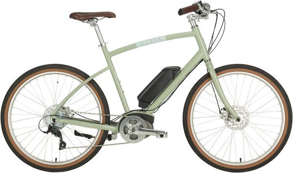 Civia Parkway Step-Over Electric Bike Color: Clay Gray