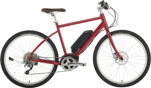 Civia North Loop E-Bike Color: Dark Red