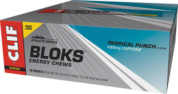 Clif Clif Shot Bloks Flavor | Size: Tropical Punch (w/25mg caffeine) | 18-pack