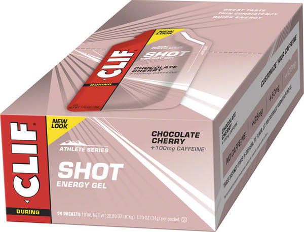 Clif Clif Shot Turbo Energy Gel Flavor | Size: Chocolate Cherry (100mg Caffeine) | 24-pack