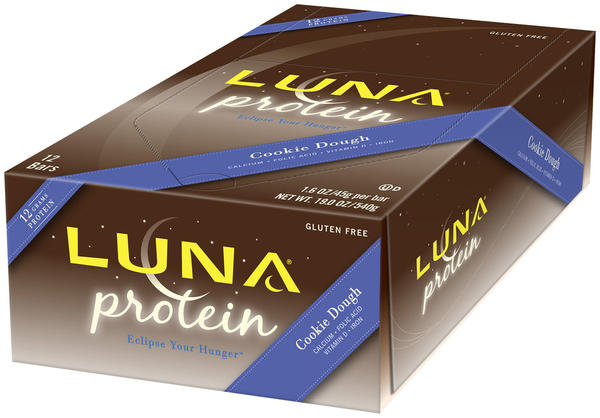 Clif Luna Protein Bar Flavor | Size: Cookie Dough | 12-pack