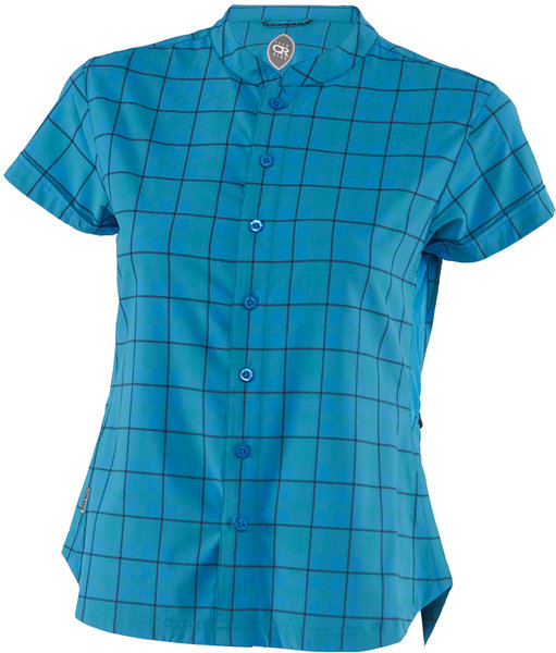 Club Ride Belle Vista Short Sleeve Shirt Color: Caribbean Blue