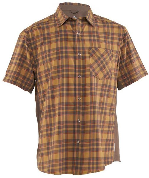 Club Ride Detour Shirt Color: Khaki Cayenne Plaid