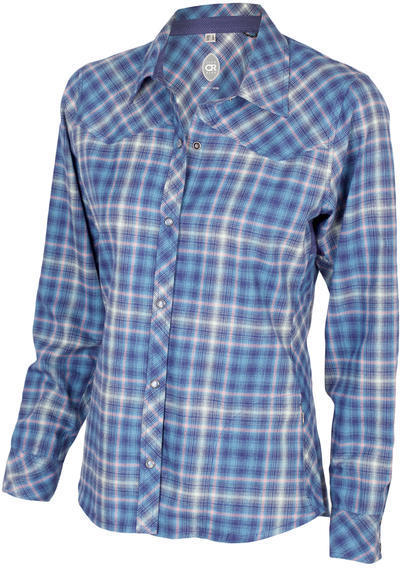 Club Ride Liv'n Flannel Color: Cobalt