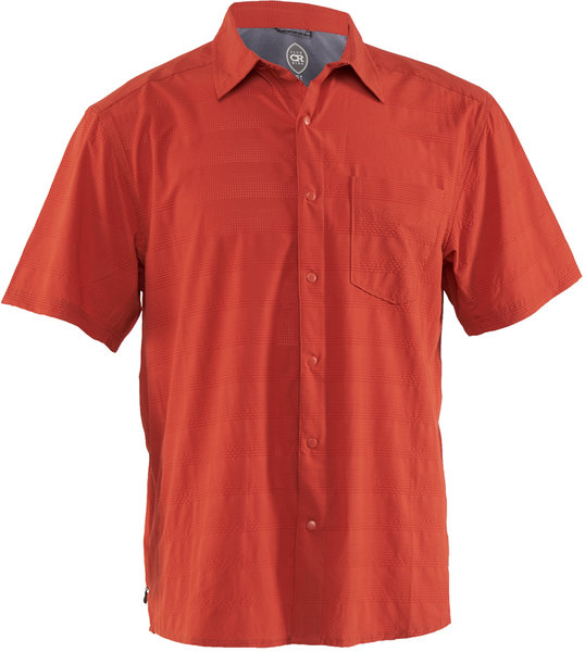Club Ride Motive Short Sleeve Shirt Color: Burnt Ochre