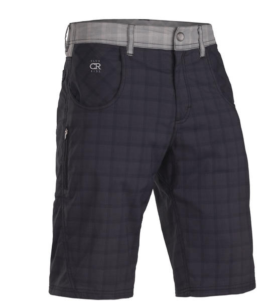 Club Ride Mountain Surf Short Color: Raven Plaid