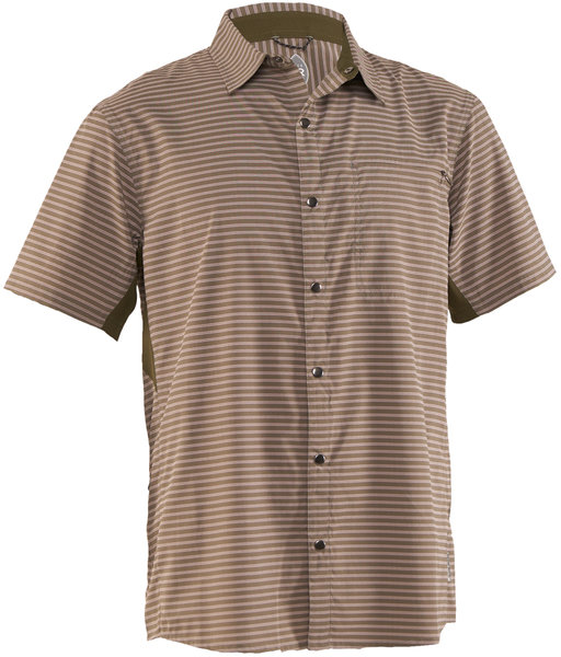 Club Ride Vibe Short Sleeve Shirt Color: Grey Stripe