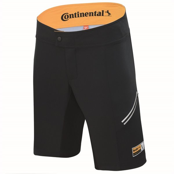 Continental MTB Shorts Color: Black/Yellow