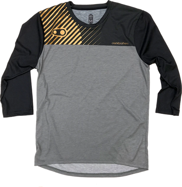 Crank Brothers Airmatic Jersey 3/4 CB Color: Black/Gold/Grey