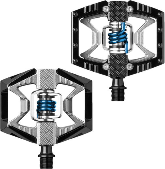 Crank Brothers Double Shot 2 Pedals Color: Black / Raw / Blue Spring