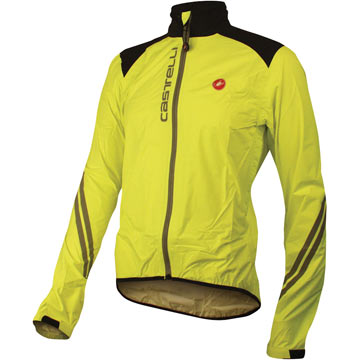Castelli Goccia Rain Jacket Color: Yellow Fluo