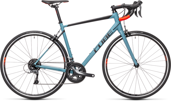 CUBE Bikes Attain Color: Greyblue 'n Red
