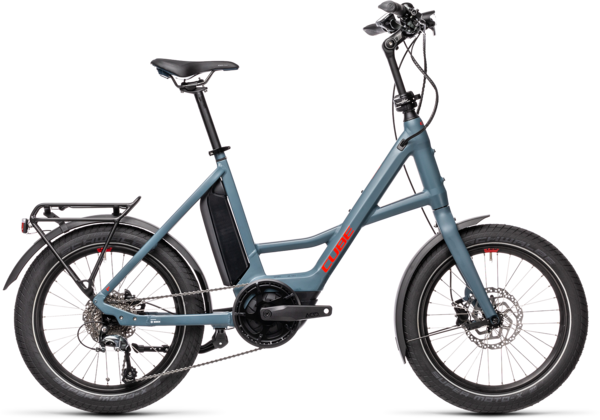 CUBE Bikes Compact Hybrid Sport Color: Blue 'n Red