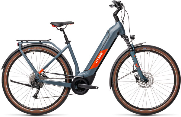 CUBE Bikes Kathmandu Hybrid ONE 500 Easy Entry Color: Blue 'n Red
