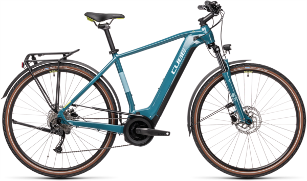 CUBE Bikes Touring Hybrid ONE 500 Color: Blue 'n Green