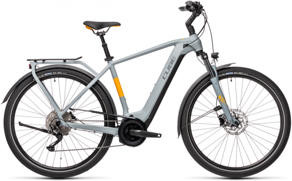 CUBE Bikes Touring Hybrid Pro 500 Color: Grey 'n Orange