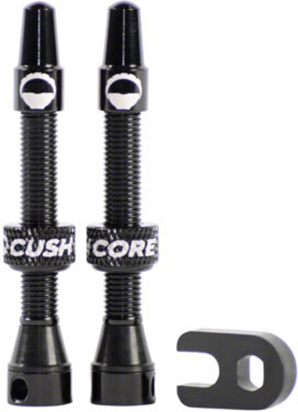 CushCore 44mm Tubeless Presta Valve Set Color: Black