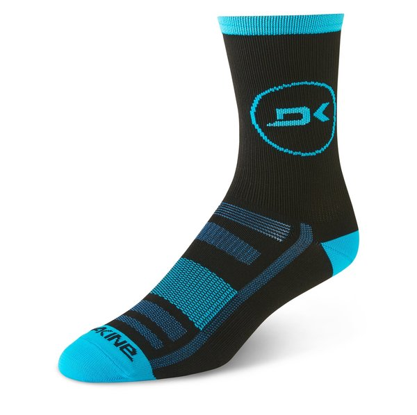 Dakine Singletrack Sock Color: Cyan/Black
