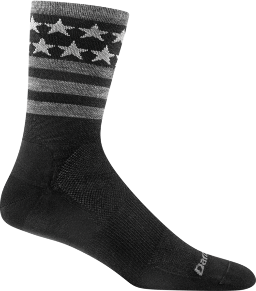 Darn Tough Stars/Stripes Micro Crew Ultra Light Socks Color: Black