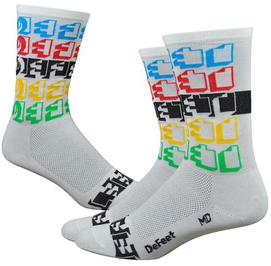 "DeFeet Aireator 6"" Positive Space Color: White w/Multi Colors"