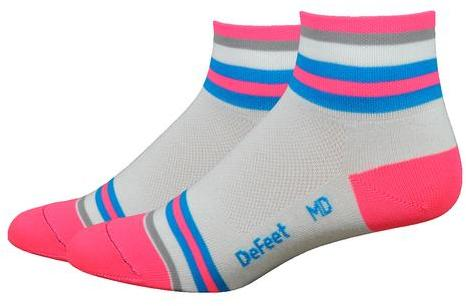 DeFeet Aireator Women's 2-inch Tubular Color: White/Pink/Blue