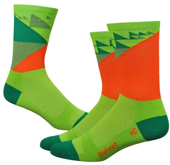 DeFeet Barnstormer 6-inch Galibier Color: Green/Orange/Jalapeno