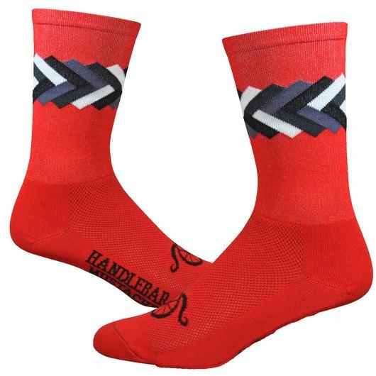DeFeet Handlebar Mustache 6-inch Big Twisted Color: Red